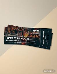 Banquet Tickets Sample 142 Sports Agency Templates Download Ready Made Samples