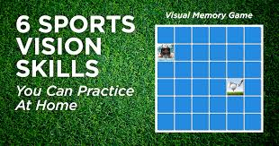 Peripheral Awareness Chart Sports Vision Skills You Can Practice At Home