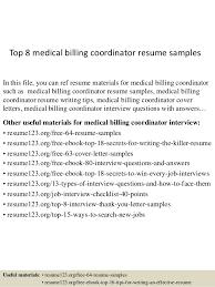 cover letter for medical billing top 8 medical billing coordinator resume samples 1 638 cb best
