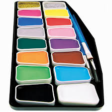 artsy sy face paint kit for kids professional 16 color mega palette best