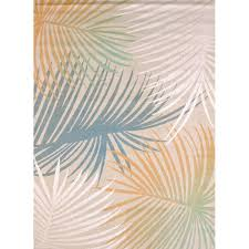 palm tree rugs elegant keyla palm leaves blue area rug rugs