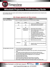 mitsubishi mini split troubleshooting. Brilliant Split Mitsubishi Troubleshooting Guide For Projectors Rh Scribd  Com Mini Split Heavy To Mitsubishi Mini Split Troubleshooting T