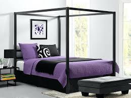 tufted canopy bed modern metal framed industrial frame queen grey picture 1  of 7 . tufted canopy bed ...