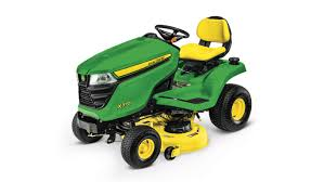 three quarter view of x370 lawn tractor