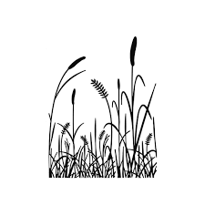 tall grass silhouette. Tall Grass Silhouette