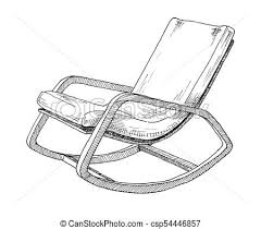 rocking chair sketch. Unique Sketch Rocking Chair Isolated On White Background Sketch A Comfortable Chair  Vector Illustration To Chair Sketch D
