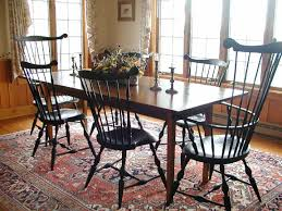 black windsor chairs. Pine Table With Comb Back And Fan Windsor Chairs Black O