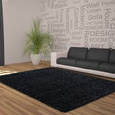 cloud nine black thick gy rug 50mm thick