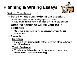 test taking skills make sure you prove what you know essay tests planning writing essays writing your essay based on the complexity of the question