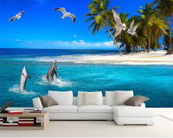 Ocean Wallpaper For Bedroom Online Get Cheap Beach And Seagull Mural Aliexpresscom Alibaba