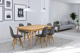 Home Affaire Essgruppenset Scandi Bestehend Aus 6 Stühlen Und Einem Esstisch Esstischbreite 180 Cm 7 Tlg