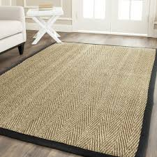 types of jute rugs materials for alluring living room floor decoration