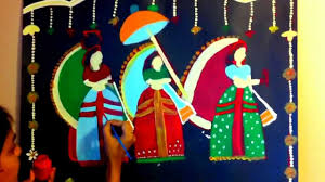 creative painting indian folk art painting mp4