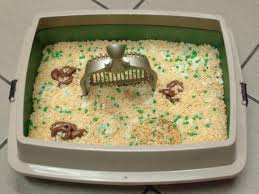 how to make a litter box cake