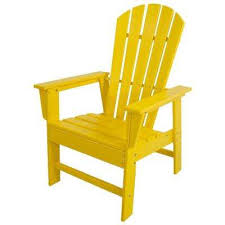 yellow patio furniture. South Beach Lemon All-Weather Plastic Outdoor Dining Chair Yellow Patio Furniture U