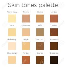 Skin Tone Color Chart Skin Tones Color Palette Vector Skin Color Vector Chart