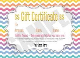 free lularoe gift certificate template cortezcolorado net