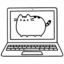 Pusheen Cat Coloring Pages For Kids With Pusheen Coloring Pages
