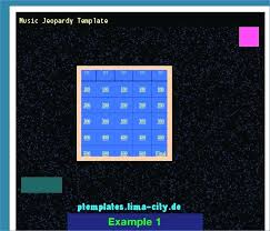Jeopardy Template Powerpoint With Music Timetoreflect Co