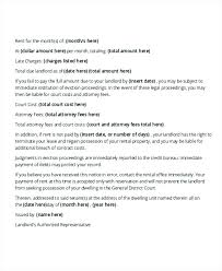 Professional Tenant Late Rent Warning Letter Template