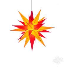 Herrnhuter Stern Innen 13cm Gelb Rot Mit Led Adventsstern Weihnachtsstern