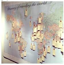 decoration ideas with world map wall sticker full size