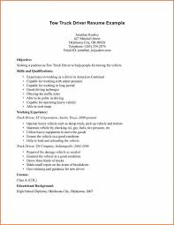 Driver Resume Truck Driver Resume Example Resume Template For Truck