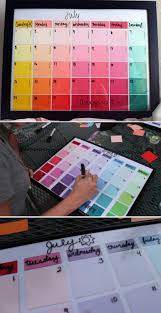 easy diy project and crafts for teen bedroom paint chip calendar by diy ready