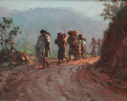 fernando amorsolo along the mountain trail