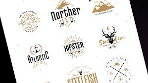 Style Templates Free Hipster Logo Templates Elements Ribbons Badges