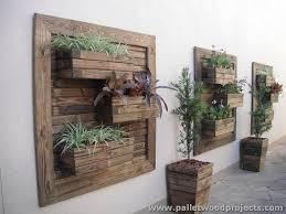 pallet wall planter box. pallet wall planters planter box 5