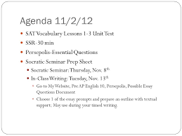 agendas vocabulary journals and quizzes pre ap english  2 agenda