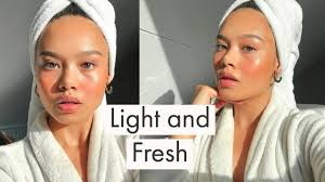 light and fresh makeup look for when you re in a rush