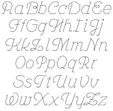 Cursive Letters Az Lowercase And Uppercase Printable Upper Case ...
