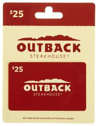 amazon com outback steakhouse gift card gift cards store amazon com outback steakhouse gift card 25 gift cards store