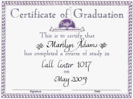 Graduation Certificate Reads Of This Is To For The Home