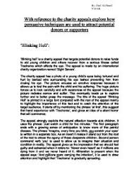 charity appeal essay blinking hell and sheep gcse english page 1 zoom in