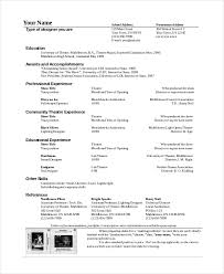 Theater Resume Template - 6+ Free Word, Pdf Documents Download ...