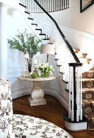 pretty table but i love the idea of a banquette in large entry way round entrance und entrance tables