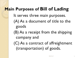 bill of loading v bill of lading bill of lading is a document issued by the