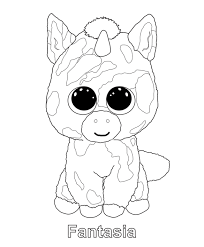 Small Picture Print me Fantasia TY Beanie Boo Beanie Boos Coloring Pages