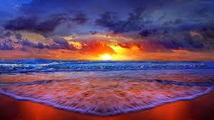 beach sunset hd wallpaper wallpapersafari
