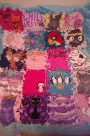 31 best No sew quilt images on Pinterest | Biscuit, Ceilings and ... & No sew quilt made from tshirts. I might do this with the her favorite  outgrown Adamdwight.com