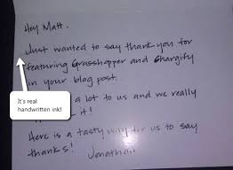 Thank You Letter To Customer 5 Handwritten Thank You Notes That Earned 5 Loyal Clients