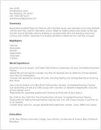 Head Start Teacher Job Description For Resume. Head Start Substitute ...