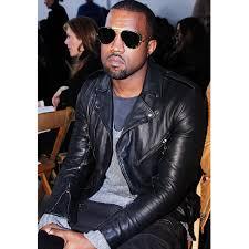 style black leather jacket zoom kanye