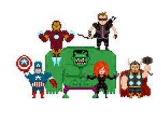 8 bit avengers 8 bitpixel artavengerspatronesthe avengers