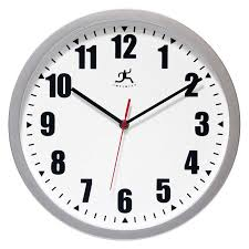 office clocks. infinity instruments silver office 12w x 12h in wall clock from hayneedlecom clocks