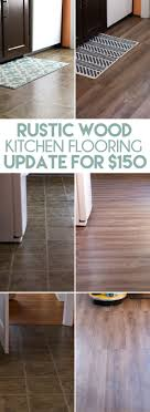 diy rustic wood plank flooring for how we replaced our kitchen flooring with