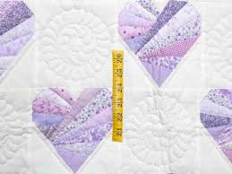 Patchwork Hearts Quilt -- marvelous cleverly made Amish Quilts ... & ... Lavender and Cream Patchwork Hearts Quilt Photo 3 ... Adamdwight.com